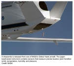 Dropsonde deployed from NASA Global Hawk