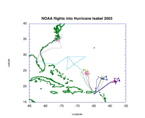 NOAA P3 missions into Hurricane Isabel