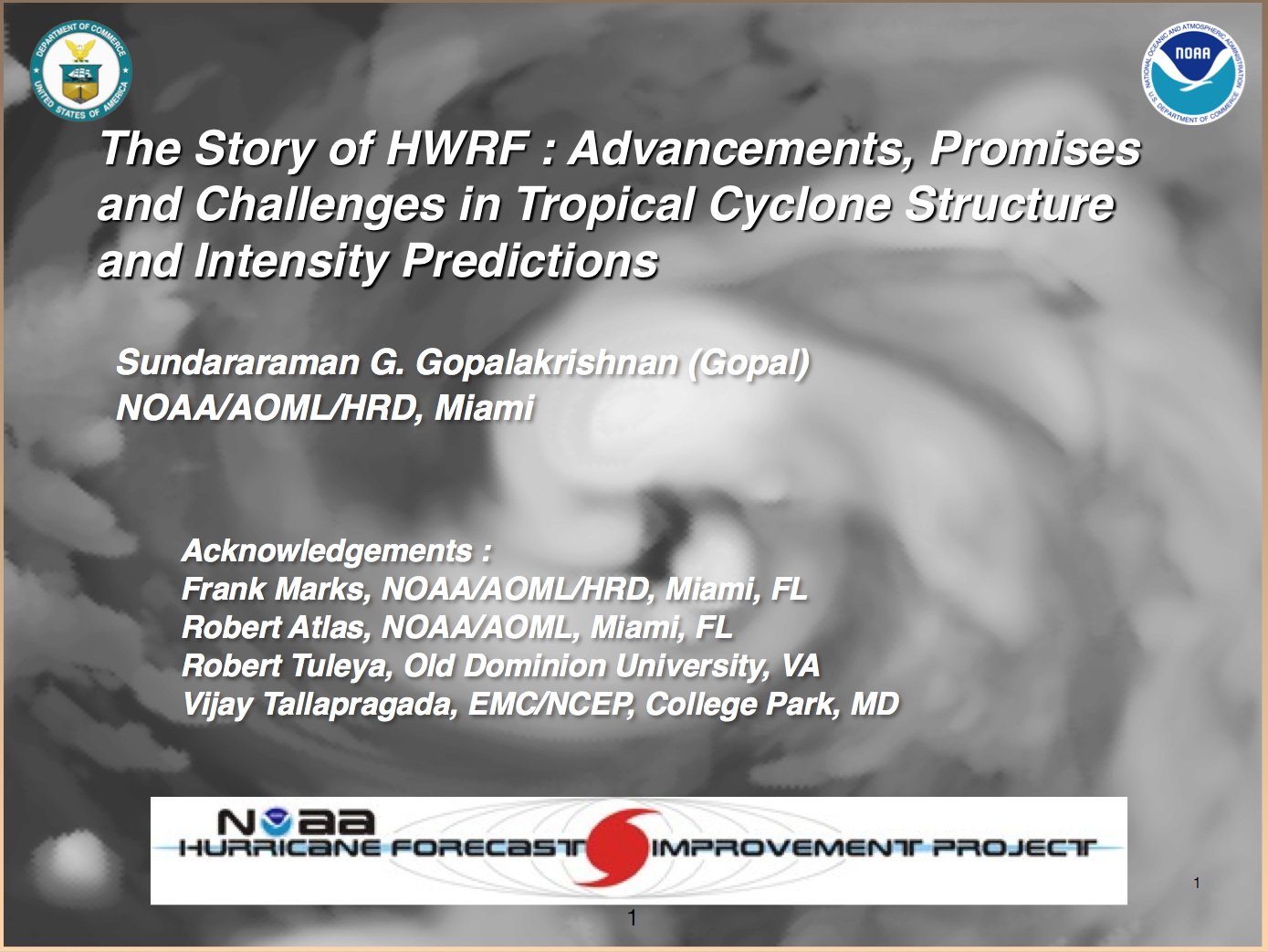HRD scientists participate in the 2014 WRF for Hurricanes Tutorial