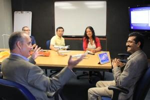 L-R: US Rep. Diaz-Balart, Joe Cione, Xuejin Zhang, Shirley Murillo and Sundararaman Gopalakrishnan