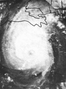 Hurricane Hilda near peak intensity (TIROS VIII)