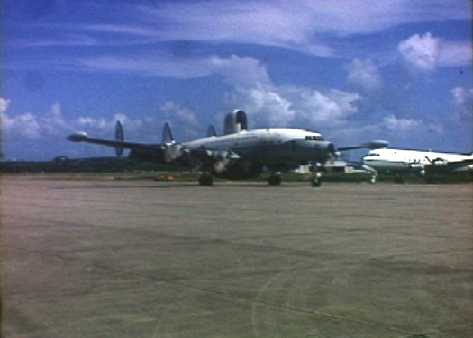 US Navy Hurricane Hunter C-121 Super Connie participating in Project STORMFURY.