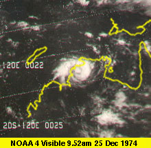 NOAA 4 satellite picture of Cyclone Tracy