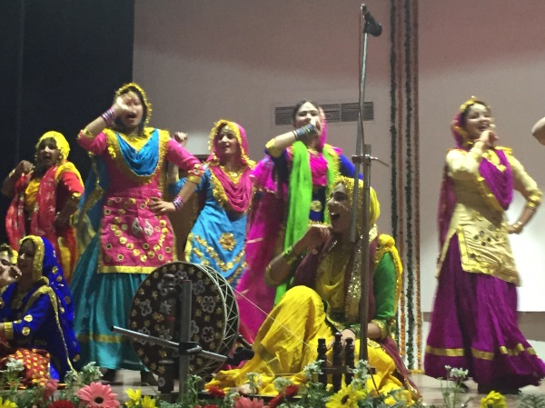 Traditional dances performed by Panjab University students