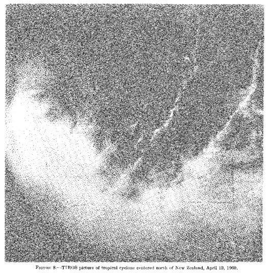 New Zealand cyclone discovered by TIROS I