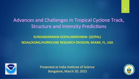 Gopal's presentation