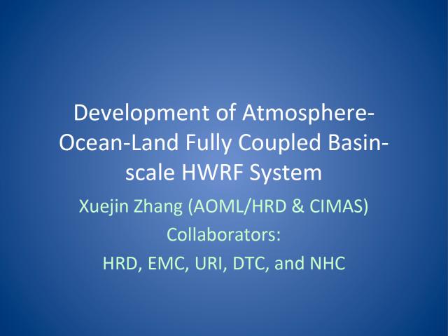 X. Zhang presentation