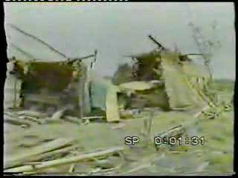 Damage from 1985 cyclone (BBC)