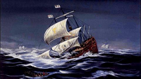 Foundering ship (U.S. Park Service)