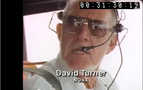 Dave, flying in Hurricane Gilbert