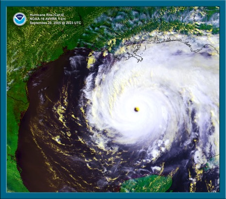 Hurricane Rita on Sept. 23, 2015 as it approached the coast.