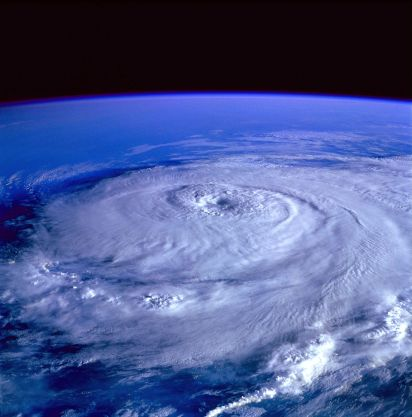 Hurricane Elena near its peak as seen from the Space Shuttle Discovery (NASA)