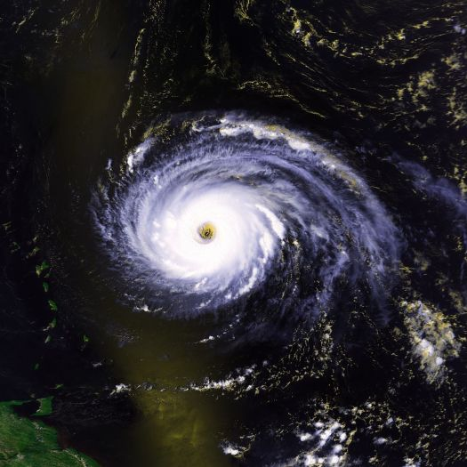 Hurricane Luis at peak intensity the day before hitting the islands. (NOAA)