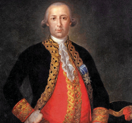 Don Bernardo de Galvez y Madrid, Viscount of Glavez (El Mundo)