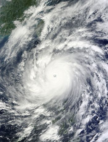 Supertyphoon Megi near its peak on Oct. 18, 2010