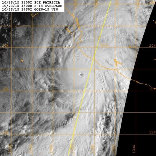 Hurricane Patricia on Oct. 23, 2015 near its peak.