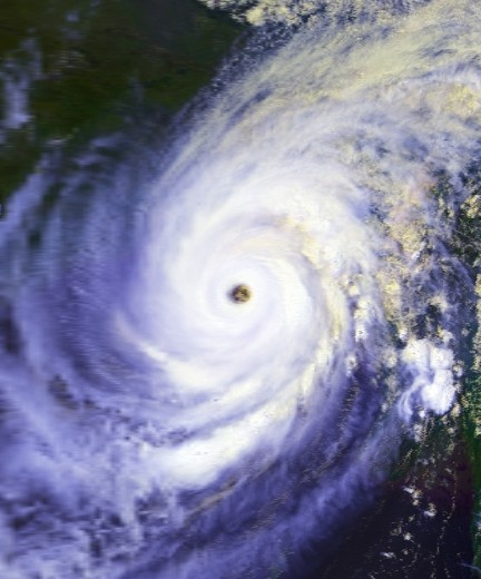 Chittagong cyclone near peak intensity on April 29, 1991
