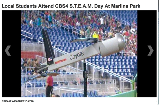 COYOTE on display at STEAM day in Marlins Park