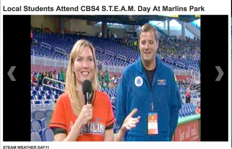 CMDR Justin Kibbey joins CBS meteorologist Nicole Mitchell for STEAM day