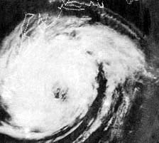 Hurricane Alma on June 12, 1966 as it ran up the Eastern Seaboard