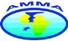 AMMA logo depicting thunderstorms over Africa