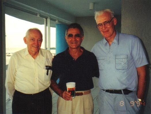 (l. to r.) Gil Clark, Miles Lawrence, Bill Gray (photo by Bob Burpee, Aug. 9, 1994)