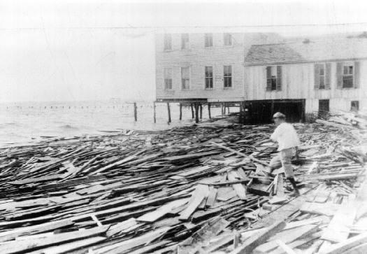 Damage done in Corpus Christi by Baffin Bay hurricane in 1916 (credit National Weather Service)