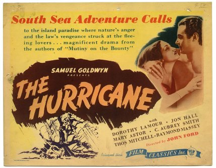 "Lobby card for ""The Hurricane"" 1937"