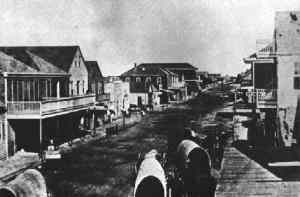 The city of Indianola (c. 1875) prior to hurricane destruction (Texas State Historical Society)