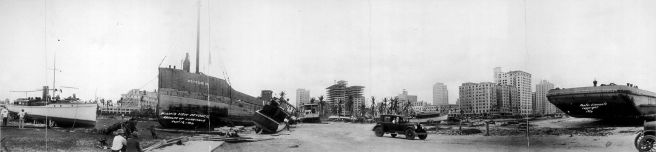 Ships stranded near the Port of Miami after the hurricane. (R.S. Clements)