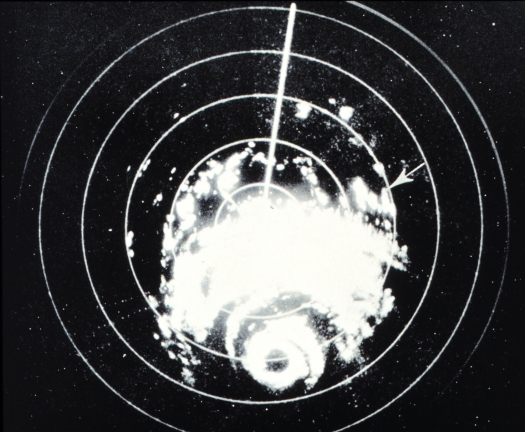 Hurricane Carla depicted on Galveston radar on Sept. 10, 1961