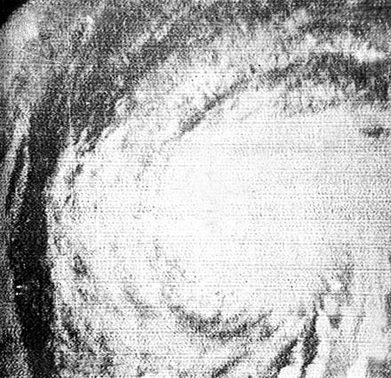 Hurricane Esther on Sept. 11, 1961 from TIORS III (NASA/USWB)