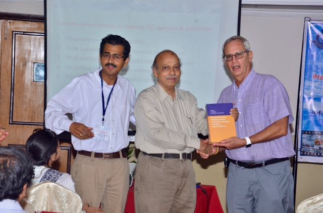 (l to r) Dr. Sundararaman Gopalakrishnan, Prof. U. C. Mohanty, Dr. Frank Marks