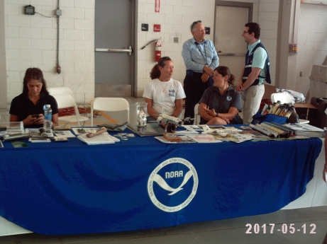 AOML table at hurricane awareness tour